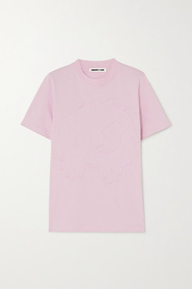 McQ Band Tee Embroidered Cotton-jersey T-shirt - Pink