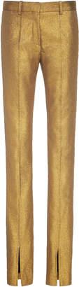 Victoria Beckham Metallic Slim-Fit Stretch-Crepe Pants