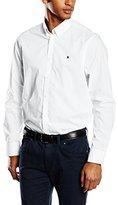 Gaastra Men's Regular Fit Long Sleeve Casual Shirt White Weiß (WHITE A20)