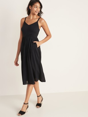 Old Navy Fit & Flare Cami Midi Dress for Women