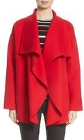 St. John Women's Double Face Wool Blend Drape Coat