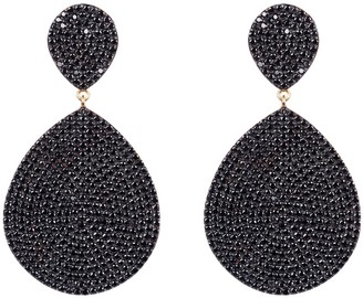 Latelita Monte Carlo Earring Gold Black Zircon