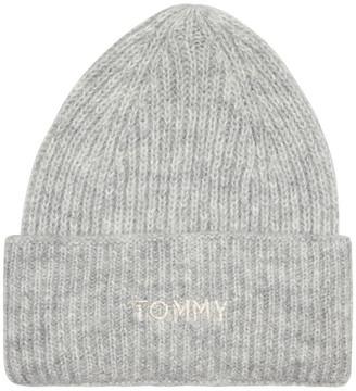 Tommy Hilfiger Alpaca Blend Embroidery Beanie