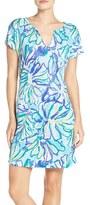 Lilly Pulitzer 'Duval' Print Linen T-Shirt Dress