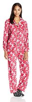Karen Neuburger Women's Long Sleeve Minky Fleece Girlfriend PJ Set with Sock