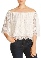 Cupcakes And Cashmere Dave Off-The-Shoulder Lace Blouse