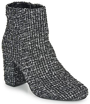 Moony Mood FRIPON women's Low Ankle Boots in Black