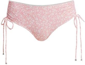 Jonathan Simkhai Kimberly Ruched High-Rise Bikini Bottom