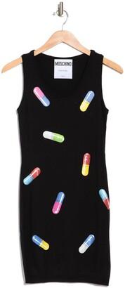 Moschino Pill Printed Wool Dress