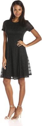 SL Fashions Women's Chevron Knit A-Line Dress