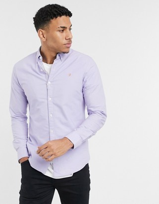 Farah Brewer slim fit shirt in lilac