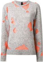 Miharayasuhiro contrast knit sweater