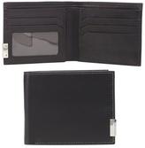 J By Jasper Conran Black Leather Logo Plate Wallet