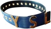 Saint Laurent Navy Leather Belt