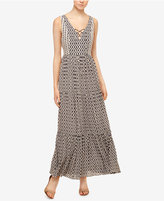 Sanctuary Audrey Printed Lace-Up Maxi Dress