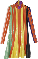 J.W.Anderson Sequin And Leather Stripe Dress