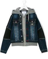 Philipp Plein Junior hoodie denim jacket