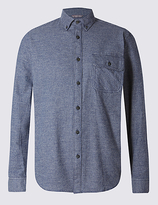 Blue Harbour Big & Tall Pure Cotton Long Sleeve Checked Shirt