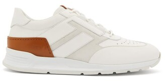 Tod's Leather, Mesh And Suede Trainers - Mens - White
