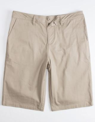 Valor Long Khaki Mens Chino Shorts