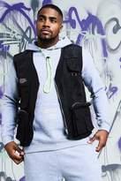 BoohooMAN Big & Tall Quavo Nylon Military Vest