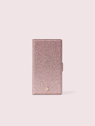 Kate Spade Burgess Court Glitter Iphone Xs Max Magnetic Wrap Folio Case
