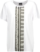 Just Cavalli Printed georgette and stretch-jersey T-shirt