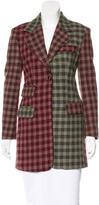 Dolce & Gabbana Plaid Short Coat