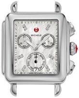Michele Women's Deco Diamond Dial Watch Case, 33Mm X 35Mm