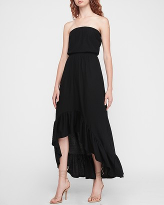 Express Strapless Hi-Lo Maxi Dress