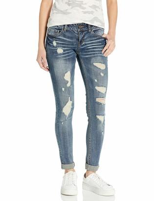 Dollhouse Women's Destructed Roll Up Skinn Jean