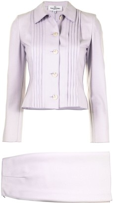 Valentino Pre-Owned Pleated Two-Piece Skirt Suit
