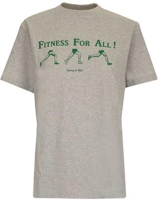 Sporty & Rich Slogan Print T-Shirt