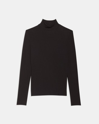 Theory Turtleneck Sweater in Ribbed Viscose