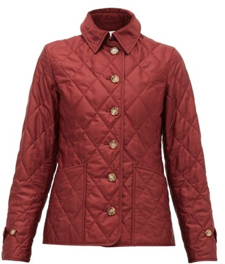 Burberry Fernleigh Quilted Shell Jacket - Dark Red