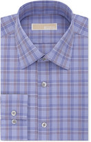 MICHAEL Michael Kors Men's Classic-Fit Non-Iron Purple Check Dress Shirt