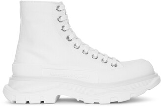 Alexander McQueen Tread slick boot white