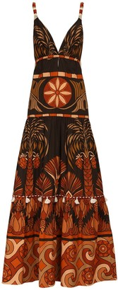 Johanna Ortiz Printed Cotton Poplin Long Dress