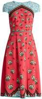 Mary Katrantzou Osmond Kings-print crepe dress