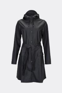 Rains Black Curve Jacket 1206 - XXS/XS