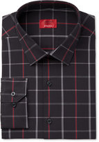 Alfani Men's Slim-Fit Stretch Black Window Check Dress Shirt, Only at Macy's