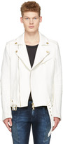 Pierre Balmain Off-white Canvas Jacket