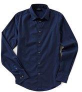 Armani Exchange Armani Jeans Slim-Fit Dot Print Long-Sleeve Woven Shirt