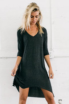 Joah Brown - So Simple Dress In Charcoal