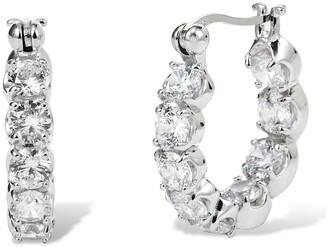 Savvy Cie Sterling Silver 20mm Chubby Hoop Earrings