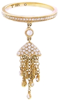 SHAY Diamond Tassel Chain Ring - Yellow Gold