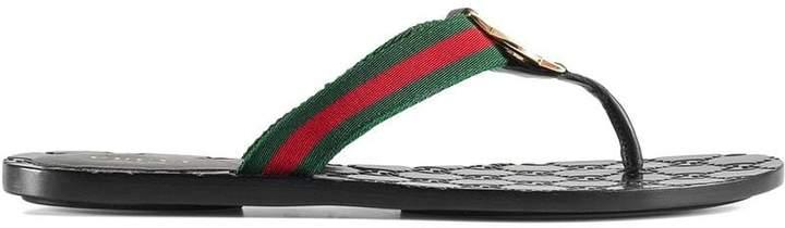 abddd27ff Gucci Gg Thong Sandal - ShopStyle