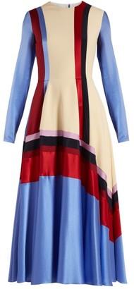 Roksanda Etta Silk-satin Dress - Womens - Blue