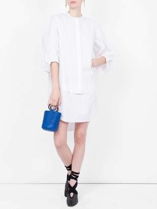 Maison Rabih Kayrouz striped poplin dress white