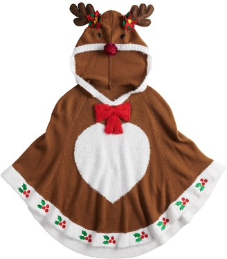 It's Our Time Girls 7-16 Hooded Reindeer Poncho